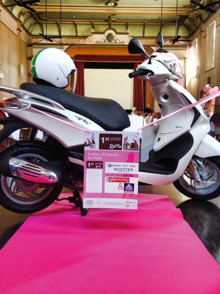 Glavcom donates Vespa for Breast Cancer Research